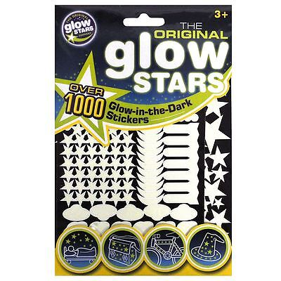 1000 Original Glow Stars Glow in Dark Room Stickers Zodiac Glowstars
