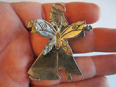 1997 Emilia Castillo Signed Butterfly Angel Scarf Clip On Brooch - Tk-2