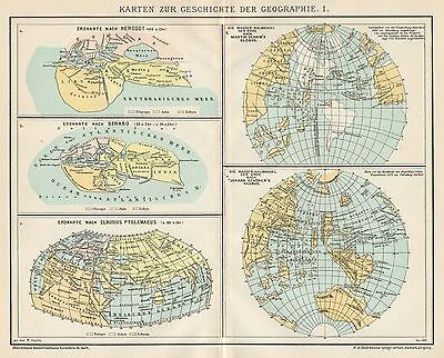 B6256 Geographical history - Carta geografica antica del 1902 - Old map