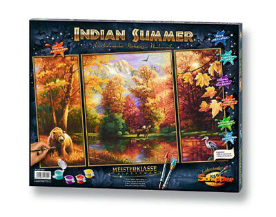 Schipper 609260650 - Malen nach Zahlen - Indian Summer (Triptychon)