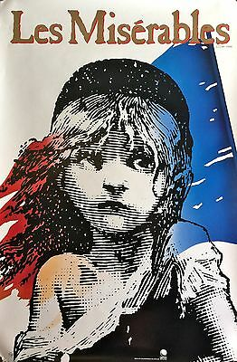 """Les Miserables- Broadway Poster- Large Rare 35"""" X 25"""" Rolled"""