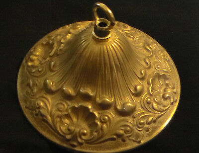 "NEW Victorian Style Die Cast Brass Ceiling Canopy, 5 1/2"" diameter Unfinished"