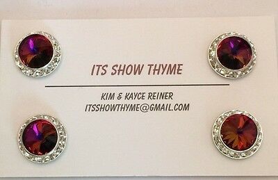 Horse show competitor magnet number pin - 13mm - Red Magma