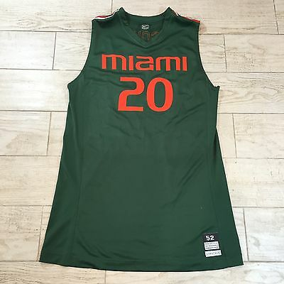 Miami Hurricanes Cyrus McGowan #20 NCAA Nike UM Game Used Jersey Size 52 +4