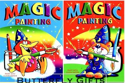 2 X A4 Magic Painting Colouring Art Books For Children No Mess