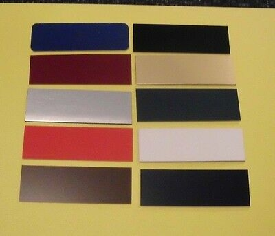 25 blank name badges tags plates plastic you choose colors and sizes