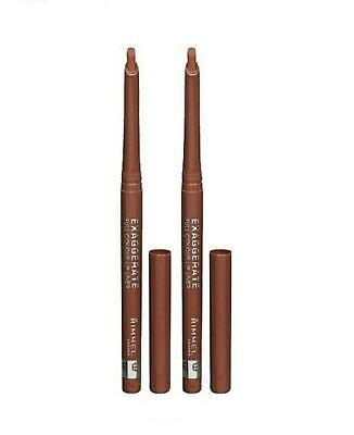 2X Rimmel London Exaggerate Full Colour Lip Liner 020 Rich New Lot Of 2 Liners