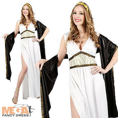 Mythical Goddess Ladies Grecian Fancy Dress Greek Roman Adults Costume Outfit