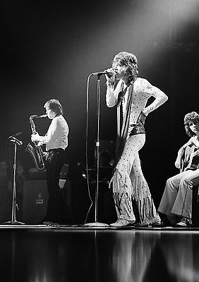 Art print POSTER / Canvas Mick Jagger On Stage Singing