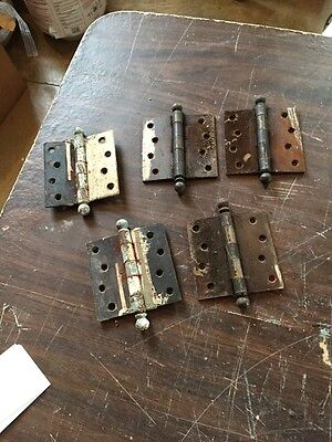 "Hd 16 Five Matching 4"" X 4"" Steel Hinges"