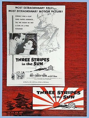 Vtg - Three Stripes In The Sun - Orig. Columbia Pictures Pressbook - 1955 - Ray