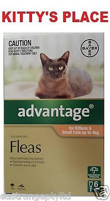 Advantage Flea Treatment for Kittens & Small Cats up to 4kg 6 pack