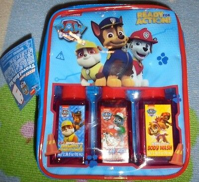 Paw Patrol ready for action berry scented travel bath set NIP NEW kids carry set