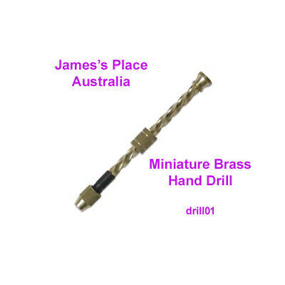 Spiral Hand Drill - miniature brass drilling tool - perfect for small holes.