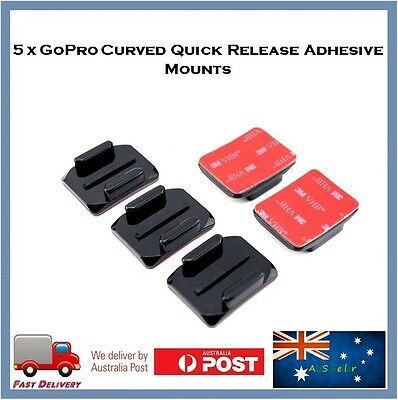 5 X Helmet Curved Adhesive Mount With 3M pad For GoPro Hero 6 / 5 /Session / 4