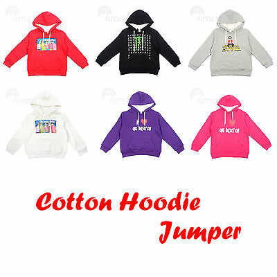 Boys Girls Kids Teenage Winter Hoodie Fleecy Hooded Jumper Outfits Furry Top Sz