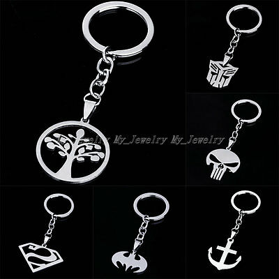 New Movie Character Key Chain Keychain Ring Keyfob Stainless Steel Keyrings Gift