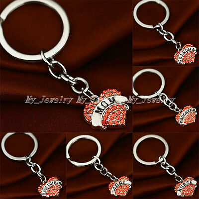 Party Crystal Heart Pendant Keyrings Friend Family Gifts New Keychain Key Chain