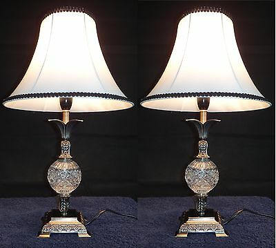 Pair of New Vintage Traditional Antique Classic Style Table Bedside Lamp