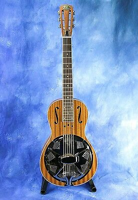Royall Parlorator All Mahogany Parlor Size Resonator Guitar with Case