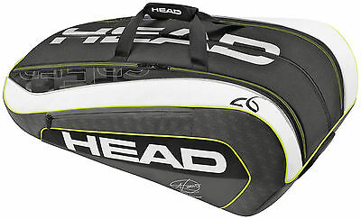 HEAD Borsa Porta Racchette DJOKOVIC MONSTERCOMBI : Borsone Nuovo da Tennis 12 R