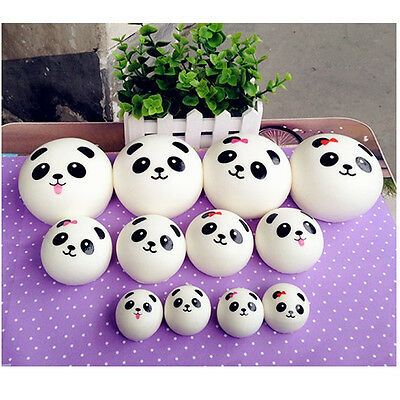 Cute Panda Squishy Kawaii Buns Bread Charms Cell Phone Straps Kit Pendant 1PCS