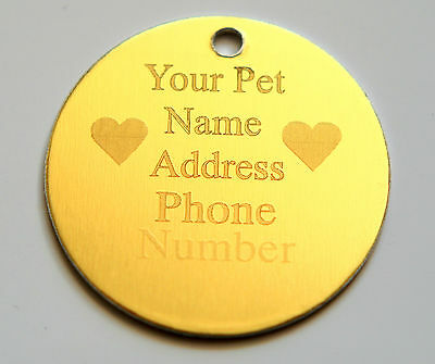 Personalised Pet Id tag,engraved on both sides