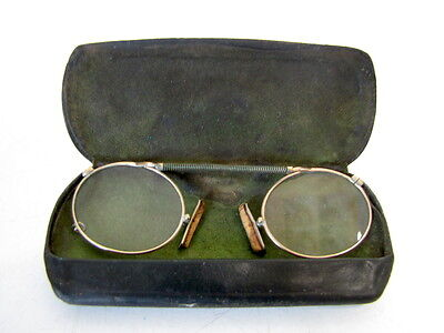 OCCHIALI ANTICHI CON CUSTODIA ORIGINALE -Antique Golden Spectacles glasses