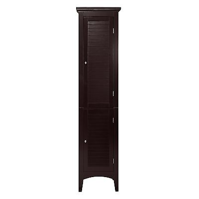 895 Elegant Home Fashions Jacksonville Linen Tower with 2 Shutter Doors
