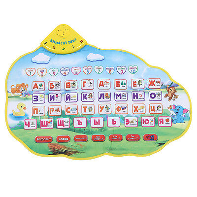 Kids Learning Mat Russian Language Toy Funny Alphabet Sound Carpet ED