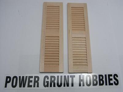 DOLL HOUSE 1/12 SCALE SHUTTERS-RAW WOODEN (Power Grunt Hobbies)