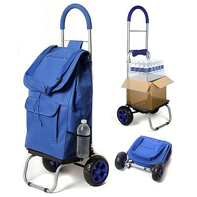 Dbest Trolley Dolly Cart Blue Weight Capacity Of 110 Pounds Comfy Use 01-060 New