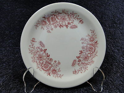 Caribe China Red Floral Pattern Vintage Restaurant Ware Bread Plate