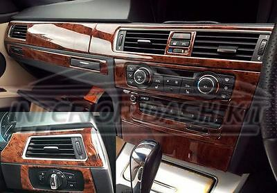 BMW 3 SERIES e90 e91 SALOON COUPE INTERIOR WOOD DASH TRIM KIT SET 2009 2010 2011