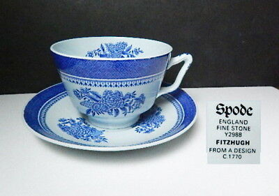 Spode FITZHUGH BLUE Large Breakfast or OVERSIZED Cup & Saucer(s)