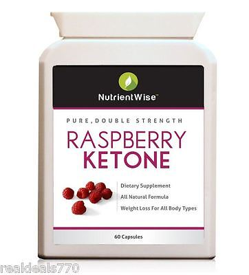 100% Pure Double Strength Raspberry Ketone - Weight loss - Fat Burner USA