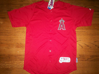 19c3b664a6f LOS ANGELES ANGELS New Mlb Majestic Authentic Cool Base Kids Jersey ...