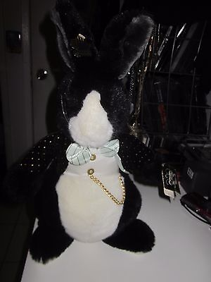 Nwt Applause After Eight Happy New Years !!! Black & White Rabbit