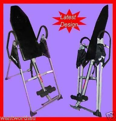 Gravity Inversion Table Upside Down Folding Exercise Home Gym Back Pain Relieve