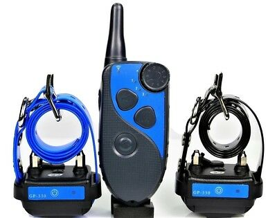 GROOVYPETS Waterproof  Rechargeable 600 M Remote 2 Dog Training Shock Collar