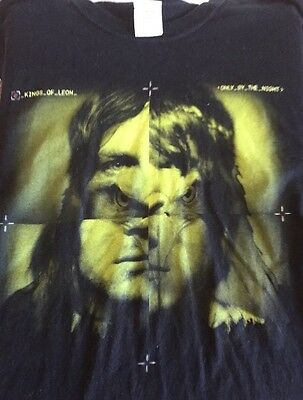 Kings Of Leon Only By The Night Large Black T Shirt Concert Shirt Tour