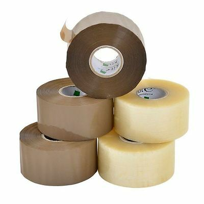 E-Tape Packaging Tape Clear & Brown - 48mm x 150m Low Noise Envirotape Cheapest