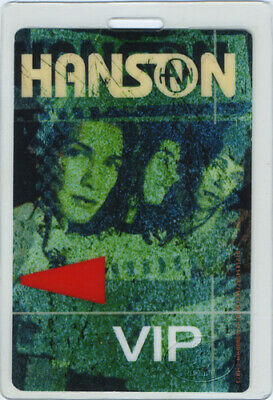 HANSON 2000-2001 Tour Laminated Backstage Pass