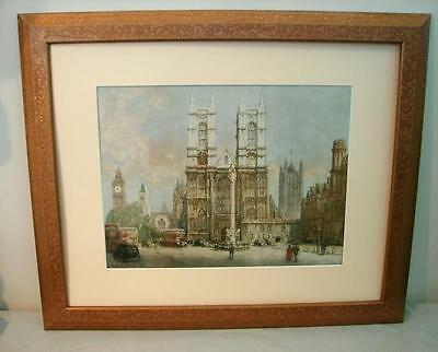 antique Henry Charles Brewer  R.I. Westminster Abbey English Framed print