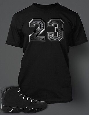 a5f9506e 23 T Shirt to match AIR JORDAN 9 RETRO ANTHRACITE Pro Club Short Sleeve  Black T