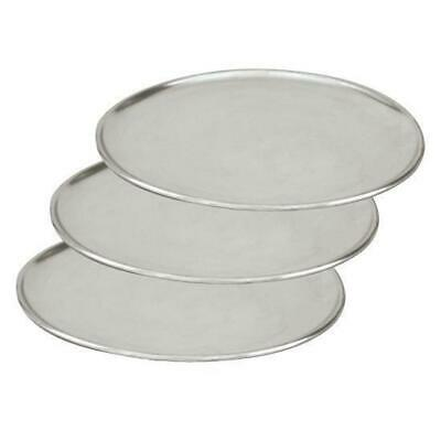 3 x Pizza Tray / Plate / Pan, Aluminium, 250mm / 10 inch, Round, Pizzas