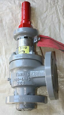 "FISHER CONTROLS FARRIS 1.5"" X 3"" ANSI 150 FLANGED Relief valve A10  26GA10A-120"