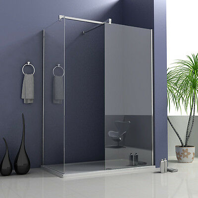 2050 Height Walk In Shower Enclosure Wet Room Screen Panel 8mm Safety Glass