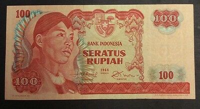 1968  100 Rupiah VGM060257 circulated condition