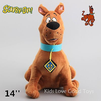 "New Scooby Doo Dog SD Plush Doll Soft Stuffed Animal Toy 14"" Teddy Kids Gift"
